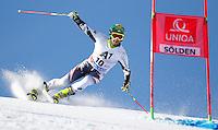 SOELDEN, AUSTRIA, 27.10.2013 - COPA DO MUNDO DE ESQUI ALPINO -  Philipp Schoeghofer da Austria durante execução do Audi FIS Copa do Mundo de Esqui Alpino, corrida de slalom gigante em Soelden na Austria , neste domingo, 27. (Foto: Primoz Jeroncic / Pixathlon / Brazil Photo Press).