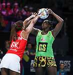 29/10/17 Fast5 2017<br /> Fast 5 Netball World Series<br /> Hisense Arena Melbourne<br /> Grand Final Jamaica v England<br /> Jhaneile Fowler-Reid<br /> <br /> <br /> <br /> <br /> <br /> Photo: Grant Treeby