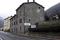 The firsts houses of Pavana village along Porrettana national road, Pavana (Pistoia), Italy. © Carlo Cerchioli..Le prime case del paese di Pavana in provincia di Pistoia, Italia.
