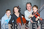Like Mother like daughter, little Sarah Moran Glenflesk who competed for the Kerry School of Music Musician of the year along with her mum Niamh, l-r: Oisin, Niamh, Leonard and Sarah