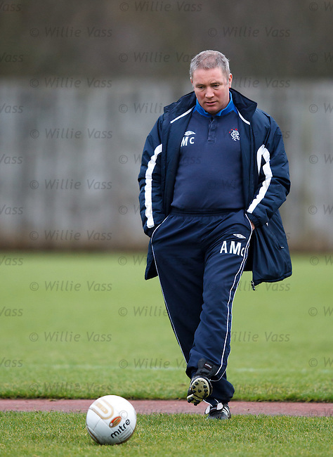 Ally McCoist thinking about tactics