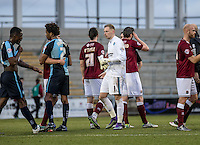 Goalkeeper Ryan Allsop of Wycombe Wanderers during the Sky Bet League 2 match between Northampton Town and Wycombe Wanderers at Sixfields Stadium, Northampton, England on the 20th February 2016. Photo by Liam McAvoy.