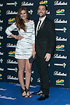 Elena Ballesteros and Dani Mateo attend the 40 Principales Awards at Barclaycard Center in Madrid, Spain. December 12, 2014. (ALTERPHOTOS/Carlos Dafonte)