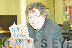He woz there: Moyvane's Gabriel Fitzmaurice with his new book, GF Woz Ere at a reading and writing workshop at the Listowel Community College on Monday.