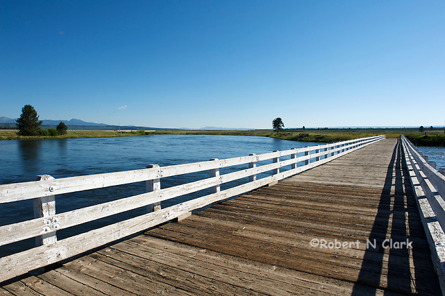 The old Osborn Bridge on the Henry's Fork of the Snake River, Idaho