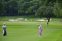 Ian Poulter (GBR) hits his approach shot on 2 during round 4 of the 2019 Charles Schwab Challenge, Colonial Country Club, Ft. Worth, Texas,  USA. 5/26/2019.<br /> Picture: Golffile | Ken Murray<br /> <br /> All photo usage must carry mandatory copyright credit (© Golffile | Ken Murray)