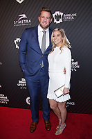 NEW YORK, NY - DECEMBER 5: J.J. Watt and  Kaelia Ohai  at the 2017 Sports Illustrated Sportsperson Of The Year Awards at Barclays Center on December 5, 2017 in New York City. Credit: Diego Corredor/MediaPunch /NortePhoto.com NORTEPHOTOMEXICO