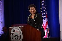 Washington, DC - January 18, 2016: U.S. Attorney General Loretta E. Lynch speaks before an audience during the National Action Network's Martin Luther King, Jr. Day Awards, held at the Mayflower Hotel, in the District of Columbia, January 18, 2016. The event was hosted by Rev. Al Sharpton.  (Photo by Don Baxter/Media Images International)
