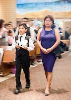 St Sebastian Catholic Church, Los Angeles.  Spanish First Holy Communion.  May 23, 2010 (05/23/10).  12:00 mass