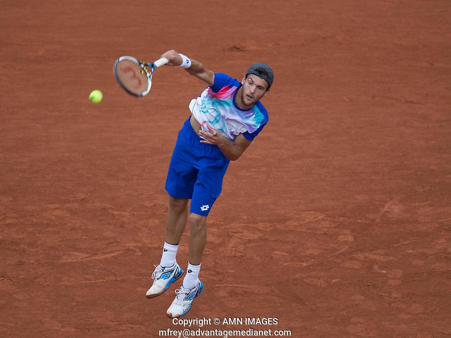 JOAO SOUSA (POR)<br /> <br /> Tennis - French Open 2014 -  Toland Garros - Paris -  ATP-WTA - ITF - 2014  - France -  26 May 2014. <br /> <br /> &copy; AMN IMAGES