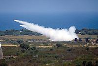 - military polygon of Salto di Quirra / Perdasdefogu (Sardinia), launch of artillery rockets  Firos 80<br /> <br /> - poligono militare di Salto di Quirra / Perdasdefogu (Sardegna), lancio di razzi di artiglieria Firos 80