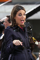 NEW YORK, NY - NOVEMBER 2: Savannah Guthrie pictured as Aerosmith perform on NBC's Today Show at Rockefeller Center in New York City. November 2, 2012. Credit: RW/MediaPunch Inc. .<br />
