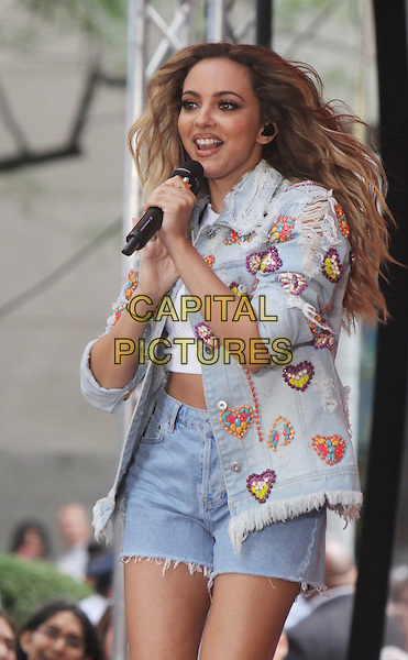 NE WYORK, NY - AUGUST 19: Jesy Nelson of Little Mix pictured on NBC's Today Show Toyota Concert Series in New York City on August 19, 2015. <br /> CAP/MPI/RW<br /> &copy;RW/MPI/Capital Pictures