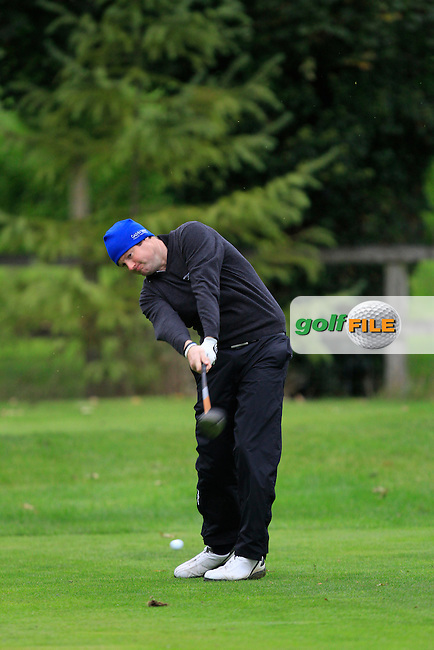 Ciaran Molloy on the 3rd tee during Round 4 of The Cassidy Golf 103rd Irish PGA Championship in Roganstown Golf Club on Sunday 13th October 2013.<br /> Picture:  Thos Caffrey / www.golffile.ie