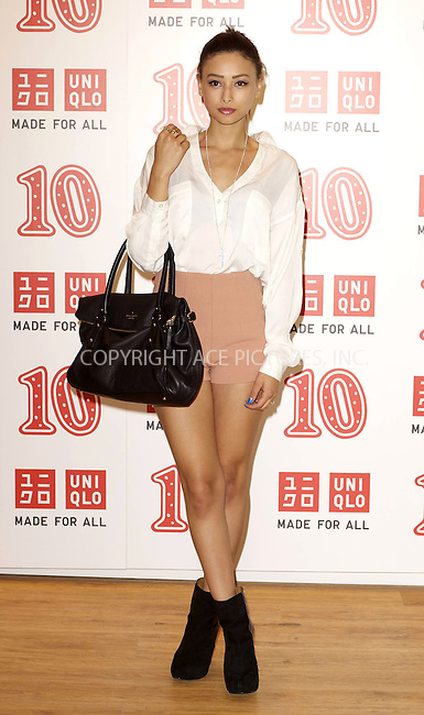 WWW.ACEPIXS.COM . . . . .  ..... . . . . US SALES ONLY . . . . .....October 12 2011, London....Leah Weller at UNIQLO's 10th birthday party pn October 12 2011 in London....Please byline: FAMOUS-ACE PICTURES... . . . .  ....Ace Pictures, Inc:  ..Tel: (212) 243-8787..e-mail: info@acepixs.com..web: http://www.acepixs.com