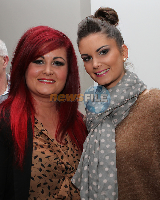 Chantelle Faulkner Donnelly with Sinead Faulkner at the Launch of Robbie Andrew's Book in the D Hotel...(Photo credit should read Jenny Matthews/NEWSFILE)...