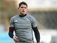 Cardiff Blues&rsquo; Lloyd Williams during the pre-match warmup<br /> <br /> Photographer Kevin Barnes/CameraSport<br /> <br /> Guinness Pro14 Round 13 - Ospreys v Cardiff Blues - Saturday 6th January 2018 - Liberty Stadium - Swansea<br /> <br /> World Copyright &copy; 2018 CameraSport. All rights reserved. 43 Linden Ave. Countesthorpe. Leicester. England. LE8 5PG - Tel: +44 (0) 116 277 4147 - admin@camerasport.com - www.camerasport.com