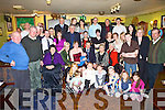 David and Mary Toomey from Dirha Cottages, Listowel seated centre celebrated the christening of their baby Dylan Ralph Toomey, with Family and friends in The Saddle Bar Listowel, on Saturday.