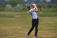 John Hickey (Cork) on the 2nd during Round 4 of the East of Ireland Amateur Open Championship sponsored by City North Hotel at Co. Louth Golf club in Baltray on Monday 6th June 2016.<br /> Photo by: Golffile   Thos Caffrey