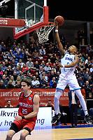 GRONINGEN - Basketbal, Donar - Spirou, Martiniplaza, Europe Cup, seizoen 2019-2020, 27-11-2019,  /Donar speler Matt Williams Jr met Spirou speler Joe Rahon