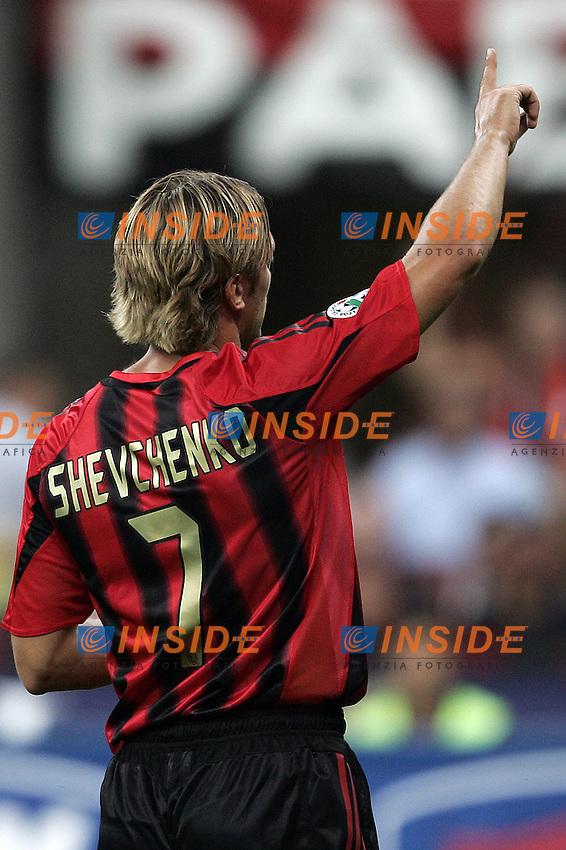 Milano 21/8/2004 Supercoppa Italiana - Italian Supercup Milan Lazio 3-0 Andriy Shevchenko Milan <br /> Foto Andrea Staccioli Insidefoto