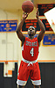 Troy Goode #4 of Center Moriches sinks a free throw during a Suffolk County League VII varsity boys basketball game against host Babylon High School on Friday, Jan. 26, 2018. Center Moriches won by a score of 84-80.