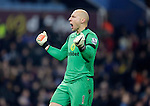 Villa goalkeeper Brad Guzan celebrates his side's goal - Football - Barclays Premier League - Aston Villa vs Southampton - Villa Park Birmingham  - Season 2014/2015 - 24th November 2015 - Photo Malcolm Couzens /Sportimage