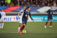 Lorient, France. - Sunday, February 8, 2015: Louisa Necib (14) of France. France defeated the USWNT 2-0 during an international friendly at the Stade du Moustoir.