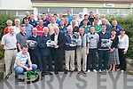Referees: Referees from all over Kerry who were presented with their new referees kit by Johnny Brosnan (chairman Coiste na nOg) after.they completed their exams at Austin Stack Pavilion, Tralee, on Tuesday evening. Included in photo are Tommy Brosnan, Harry Bartlett,.Stephen Crowley, Gerard Murphy, Darren OShea, John OSullivan, Michael Dwyer, Brendan Poff, John M. Fitzgerald, Brendan OConnell,.James Barry, Richard Cotter, Cillian Moran, Denis Sheehan, Paudie Randles, Ed Walsh, John Costelloe, Roland Rogers, Denis Cahill, Conor.Kavanagh, Michael Sayers, Peter Kerins, John Courtney, Mike Brosnan, Anthony Shanahan, Michael Foley, Eamonn Moran, David Locke,.Joe Langan, Maurice OSullivan, Mick Flavin, Barth Moriarty, Moss Spillane, John Motherway, Johnny Brosnan (chairman Coiste na nOg),.Mike Carroll (PRO Coiste na nOg), Josephine OConnor (Kerry County Board) and Peggy Horan (secretary Coiste na nOg).