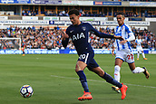 30th September 2017, The John Smiths Stadium, Huddersfield, England; EPL Premier League football, Huddersfield Town versus Tottenham Hotspur; Dele Alli of Tottenham Hotspur FC clears the ball under pressure from Tom Ince of Huddersfield Town