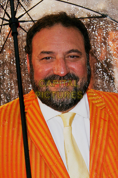 JOEL SILVA .Arriving at the Speed Racer - UK film premiere, Empire Leicester Square,.London, England, April 28th 2008..portrait headshot yellow tie beard orange pinstripe suit .CAP/DAR.©Darwin/Capital Pictures
