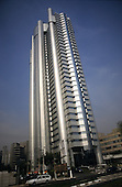 Sao Paulo, Brazil. Modern high rise glass and steel HSBC office building.