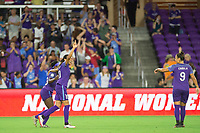 Orlando, FL - Saturday August 12, 2017: Marta Vieira Da Silva celebrates her goal during a regular season National Women's Soccer League (NWSL) match between the Orlando Pride and Sky Blue FC at Orlando City Stadium.