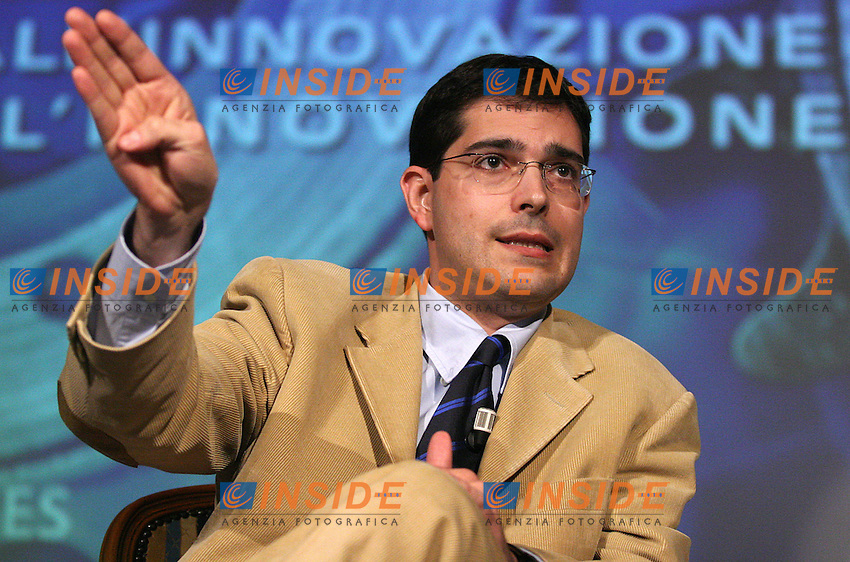 Roma, 10/11/2006 Convegno Confapi dal titolo &quot;Genio privato e pubblica virt&ugrave;&quot;. Nella foto Daniele Capezzone, Presidente della Commissione Attivit&agrave; Produttive. <br /> Photo Samantha Zucchi INSIDE (www.insidefoto.com)