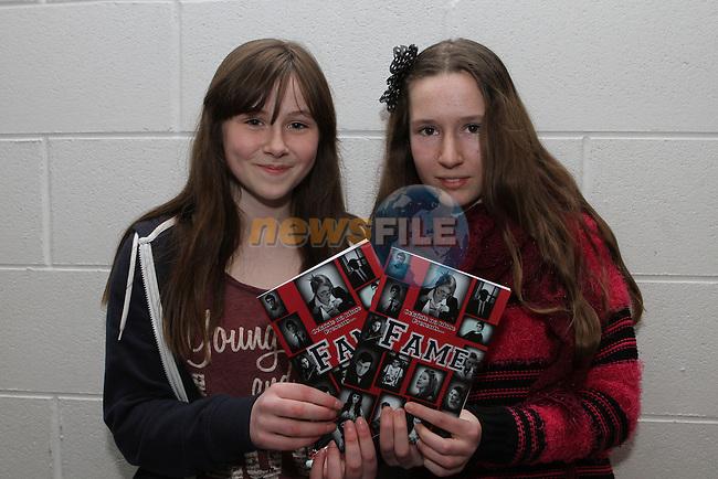 "Aideen McDonagh and Freya Martin as Colaiste Na Hinse perform The Musical ""Fame""...(Photo credit should read Jenny Matthews/NEWSFILE)..."