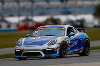 5-8 January, 2017, Daytona Beach, Florida USA<br /> 35, Porsche, Porsche Cayman GT4, GS, Russell Ward, Bryce Ward, Damien Faulkner<br /> &copy;2017, Jake Galstad<br /> LAT Photo USA