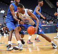 CJ Barksdale at the NBPA Top100 camp June 19, 2010 at the John Paul Jones Arena in Charlottesville, VA. Visit www.nbpatop100.blogspot.com for more photos. (Photo © Andrew Shurtleff)