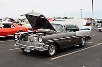 1956 Cruiser Class (#90C) – 1956 Chevrolet 210 2-Door Hardtop registered to Gary Pronesti is pictured during 4th State Representative Chevy Show on Saturday, July 2, 2016, in Fort Wayne, Indiana. (Photo by James Brosher)