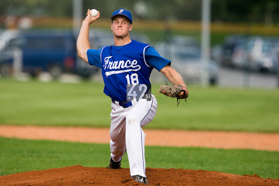 BASEBALL - EUROPEAN UNDER -21 CHAMPIONSHIP - PAMPELUNE (ESP) - 03 TO 07/09/2008 - PHOTO : CHRISTOPHE ELISE.GREGORY CROS (FRANCE)