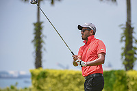 Yuvraj SANDHU (IND) watches his tee shot on 12 during Rd 1 of the Asia-Pacific Amateur Championship, Sentosa Golf Club, Singapore. 10/4/2018.<br /> Picture: Golffile | Ken Murray<br /> <br /> <br /> All photo usage must carry mandatory copyright credit (&copy; Golffile | Ken Murray)