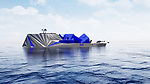 An extraordinary £90 million Arctic super yacht has been designed to perfectly blend in with its frozen landscape - by looking like an iceberg.  The bizarre 70 metre 'Fata Morgana' has a bow that resembles a rock formation, and a stern that mimics a giant ice structure.<br /> <br /> The vessel even boasts an observatory so passengers can enjoy the views of the undisturbed Arctic sky.  The Fata Morgana can host 12 guests and 18 crew members -including security staff, a helicopter pilot and scuba instructor  - and comes complete with an outdoor swimming pool and helipad.  SEE OUR COPY FOR DETAILS.<br /> <br /> Please byline: Fata Morgana/Solent News<br /> <br /> © Fata Morgana/Solent News & Photo Agency<br /> UK +44 (0) 2380 458800