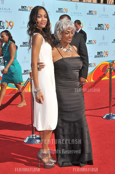 Zoe Saldana (left) & Nichelle Nichols at the 2009 BET Awards (Black Entertainment Television) at the Shrine Auditorium..June 28, 2009  Los Angeles, CA.Picture: Paul Smith / Featureflash