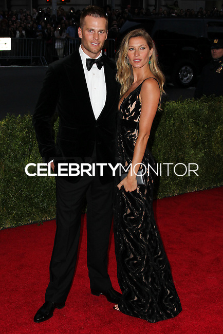 "NEW YORK CITY, NY, USA - MAY 05: Tom Brady, Gisele Bundchen  at the ""Charles James: Beyond Fashion"" Costume Institute Gala held at the Metropolitan Museum of Art on May 5, 2014 in New York City, New York, United States. (Photo by Xavier Collin/Celebrity Monitor)"