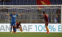 Calcio, Serie A: Roma, stadio Olimpico, 19 marzo, 2017<br /> Sassuolo's Gr&eacute;goire Defrel (l) celebrates after scoring during the Italian Serie A football match between Roma and Sassuolo at Rome's Olympic stadium, March 19, 2017<br /> UPDATE IMAGES PRESS/Isabella Bonotto