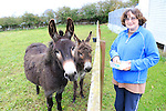 Mary Mimna and her Donkeys<br /> Picture: Fran Caffrey www.newsfile.ie