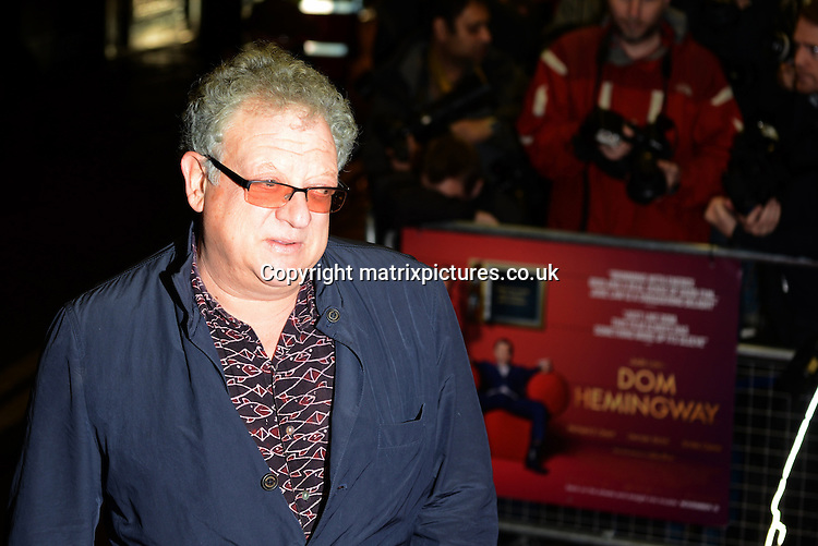 NON EXCLUSIVE PICTURE: MATRIXPICTURES.CO.UK<br /> PLEASE CREDIT ALL USES<br /> <br /> WORLD RIGHTS<br /> <br /> British film producer Jeremy Thomas attending the UK premiere of Dom Hemingway, at The Curzon Mayfair in London. <br /> <br /> OCTOBER 28th 2013<br /> <br /> REF: SLI 137031