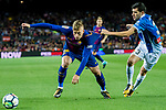 Gerard Deulofeu Lazaro of FC Barcelona (L) fights for the ball with Aaron Martin Caricol of RCD Espanyol (R) during the La Liga match between FC Barcelona vs RCD Espanyol at the Camp Nou on 09 September 2017 in Barcelona, Spain. Photo by Vicens Gimenez / Power Sport Images