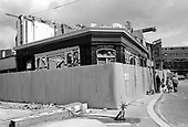 Demolition of the Beehive Pub, Walmer Road, North Kensington, now the site of Kensington Leisure Centre; 1975.