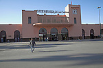 Gare de Marrakech, railway station Marrakech, Morocco, north Africa