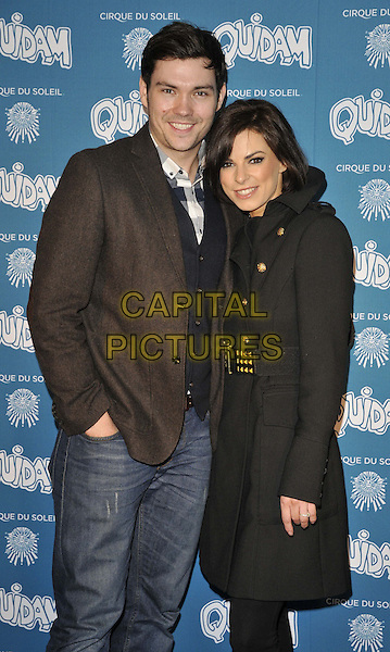 LONDON, ENGLAND - JANUARY 07: Sam Attwater &amp; Vicky Ogden attend the &quot;Cirque du Soleil: Quidam&quot; VIP press night, Royal Albert Hall, Kensington Gore, on Tuesday January 07, 2014 in London, England, UK.<br /> CAP/CAN<br /> &copy;Can Nguyen/Capital Pictures
